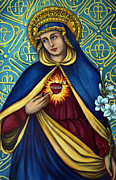 Immaculate Heart Prints - Immaculate Heart Print by Valerie Vescovi