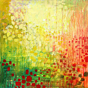 Green Yellow Paintings - Immersed No 2 by Jennifer Lommers