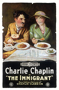 1910s Poster Art Framed Prints - Immigrant, Charlie Chaplin, Edna Framed Print by Everett
