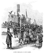 American City Prints - Immigrants Landing, 1884 Print by Granger