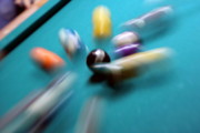 Pool Break Prints - Impact Print by Mike Cavanaugh