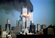 9-11 Posters - Impact Tower 2 Poster by Mark Gilman