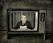 Nixon Metal Prints - Impeached Network  Metal Print by Jerry Cordeiro