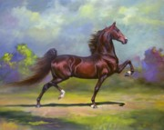 Equine Painting Framed Prints - Imperator Framed Print by Jeanne Newton Schoborg