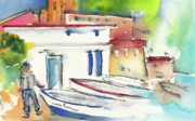 Ink Drawing Paintings - Imperia in Italy 06 by Miki De Goodaboom