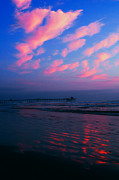Imperial Beach At Dusk Print by Sabino Cruz