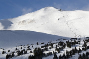 Wintertime Prints - Imperial Bowl on Peak 8 at Breckenridge Colorado Print by Brendan Reals