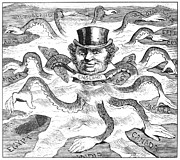 Octopus Drawings - Imperialism Cartoon 1882 by Granger