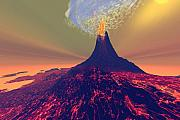 Eruption Digital Art - Imposing by Corey Ford