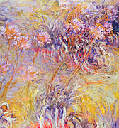 Color Purple Painting Framed Prints - Impression - Flowers Framed Print by Claude Monet