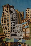 Streetscape Paintings - Impression Union Square West NYC by Lester Glass