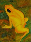 Awesome Originals - Impressionistic Golden Poison Dart Frog Orig or Prints by Karl Reid
