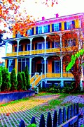 Surfing Maine Framed Prints - Impressionistic Victorian House In Cape May II Framed Print by Annie Zeno