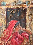 Indian Woman Prints - Impressions 0f India Print by Kate Bedell