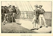 Napoleonic Wars Prints - Impressment Of American Seaman Print by Everett