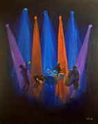 Wine Canvas Paintings - Improvisation of the Soul by Bill Werle