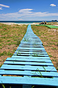 Greek Island Prints - Improvised Boardwalk Print by Meirion Matthias