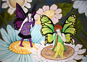 Fantasy Pastels - Impudent Fairies by Annie Seddon