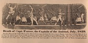 Slavery Photo Prints - In 1839 Fifty-four African Captives Print by Everett