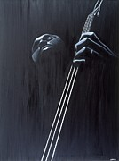 Double Bass Prints - In a Groove Print by Kaaria Mucherera