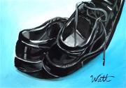Shoe Paintings - In a Hurry by Tammy Watt
