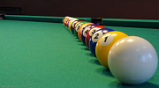 Pocket Billiards Prints - In A Row Print by Mick Anderson