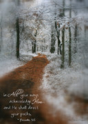 Scripture Photo Posters - In All Your Ways Poster by Debra Straub
