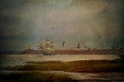 Tall Ships Prints - In Another Lifetime Print by Lianne Schneider