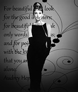 Audrey Digital Art - In Audreys Words by Stephanie Tso