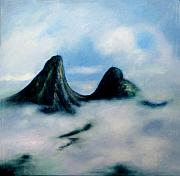 Cerro Paintings - In between earth and sky by Sonia Flores Ruiz