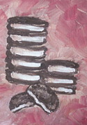 Oreo Painting Prints - In Between Print by Sandy Tracey