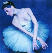Anke Wheeler Paintings - In Blue by Anke Wheeler