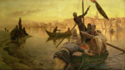 Nile Paintings - In Cairo by Joseph Farquharson