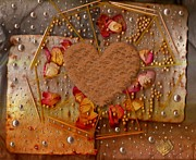 Pearls Mixed Media Posters - In Cookie And Bread Style Poster by Pepita Selles