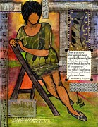 African-american Mixed Media Posters - In Every TRUE Woman Poster by Angela L Walker