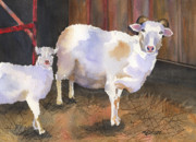 Sheep Farm Prints - In For the Night Print by Marsha Elliott