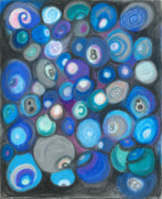 Balls Pastels Posters - In Front of the 8 Ball Poster by Ania M Milo
