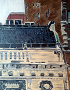 Nyc Rooftop Prints - In Front of the League Print by Jacq Lovelace
