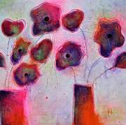 Flowers Mixed Media Originals - In Full Bloom 2 by Johane Amirault