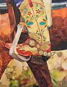 Cowboy Mixed Media Posters - In Her Favorite Boots She Can Take On The World Poster by Robin Birrell