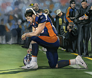 Tebow Framed Prints - In Him I can do all Things Framed Print by Rich Marks