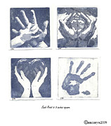 Hand Reliefs - In His Hands by Amanda McIntyre