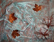 Leaves Reliefs Prints - In His Hands Print by Cristy Crites