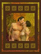 Nude Couple Digital Art - In Love by Kurt Van Wagner