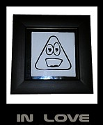 Emoticon Framed Prints - In Love Framed Print by Sirajudeen Kamal Batcha