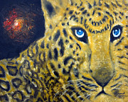 Leopards Paintings - In Memorium Save Wild Life by Leonardo Ruggieri