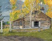 Old West Drawings - In Memory of Bar A by Nichole Taylor