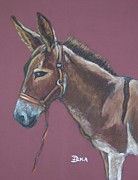 Donkey Pastels - In Memory of Pippi by Dianne  Ilka