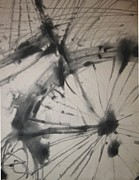 Wheel Drawings - In Motion by Paula Cork