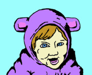 Caricature Art - In My Animal Suit 2 by Jera Sky